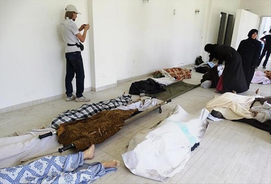 ضحايا مجزرة كيماوي في سوريا - أرشيف