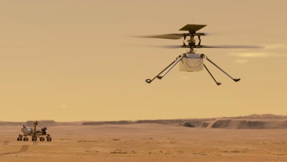 المروحية تزن 1.8 كيلوجرام ولا تحمل أي أدوات علمية