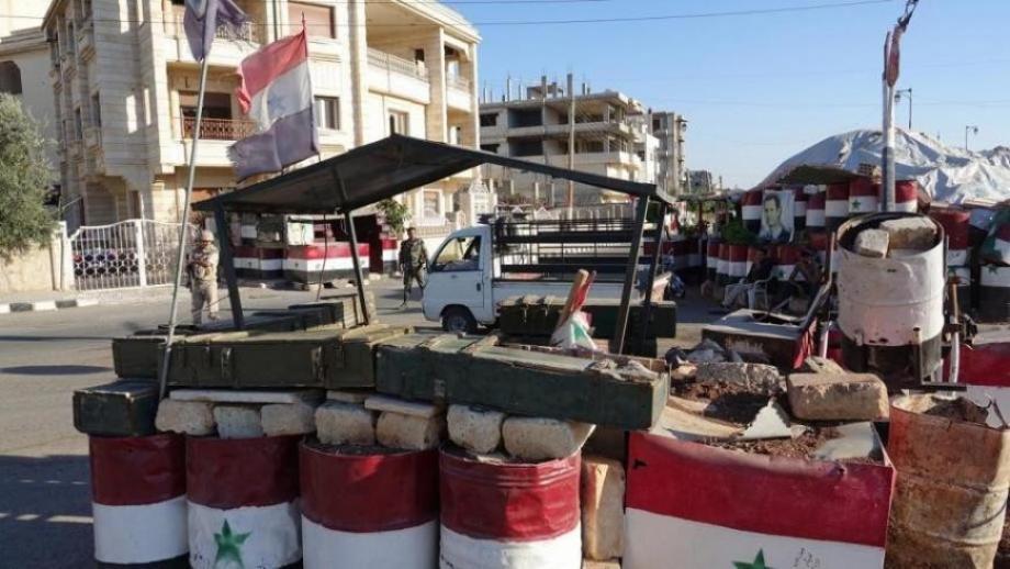 حاجز لنظام الأسد - سوريا