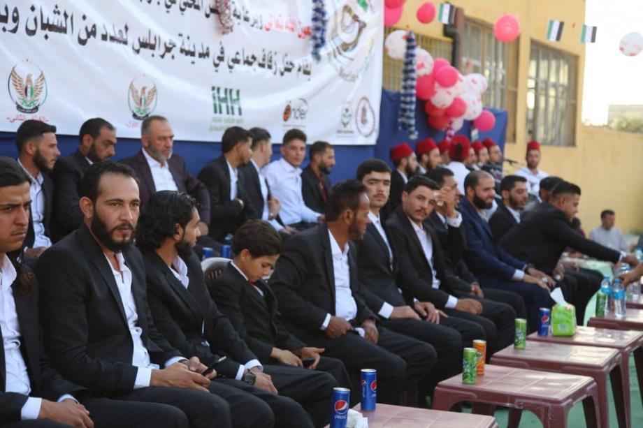 حفل زفاف جماعي في جرابلس 26/ 5 / 2021