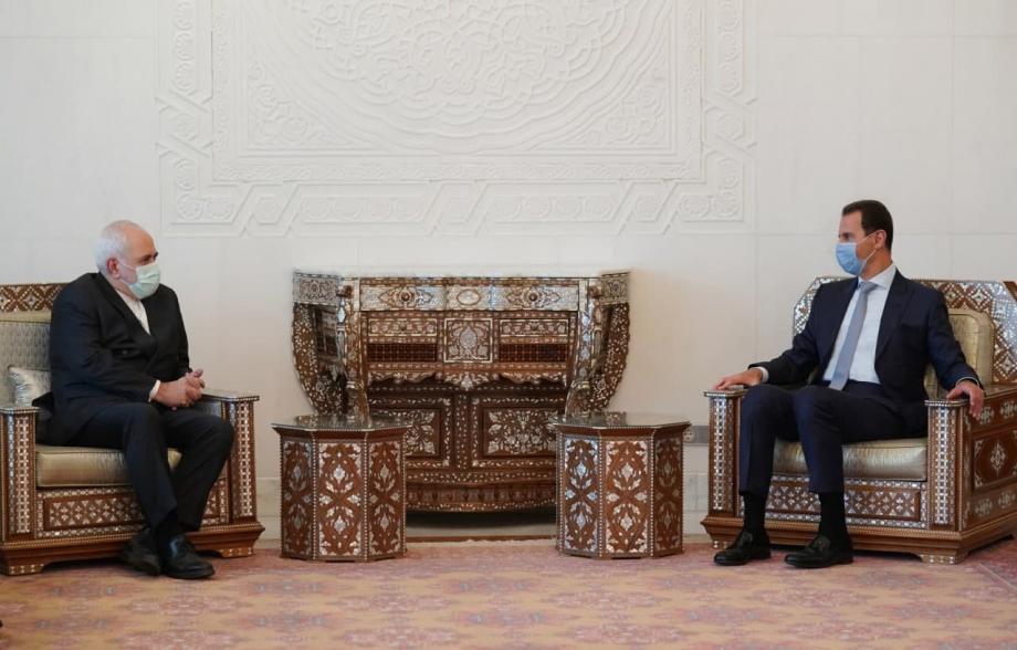 بشار الأسد وجواد ظريف 12 5 2021