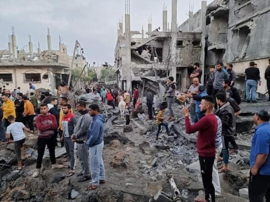 آثار الدمار في غزة
