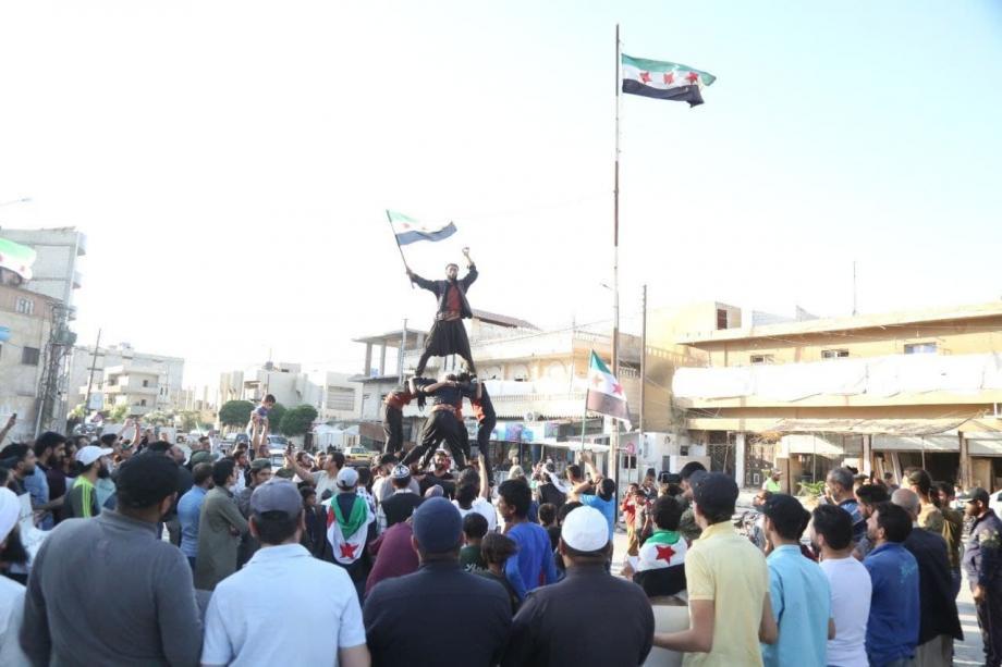 مظاهرة في جرابلس 8 /6 / 2021 خاص آرام