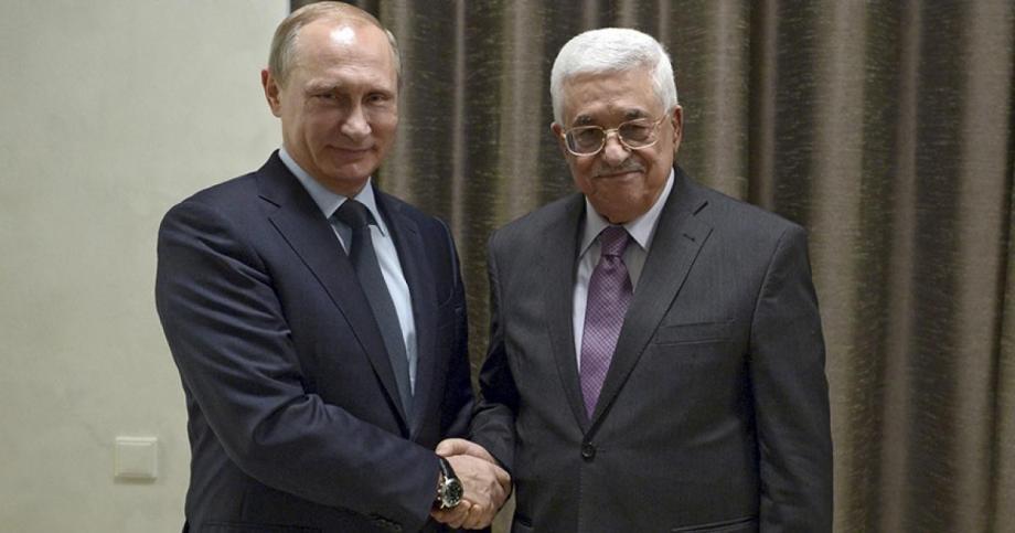 بوتين مع الرئيس الفلسطيني محمود عباس