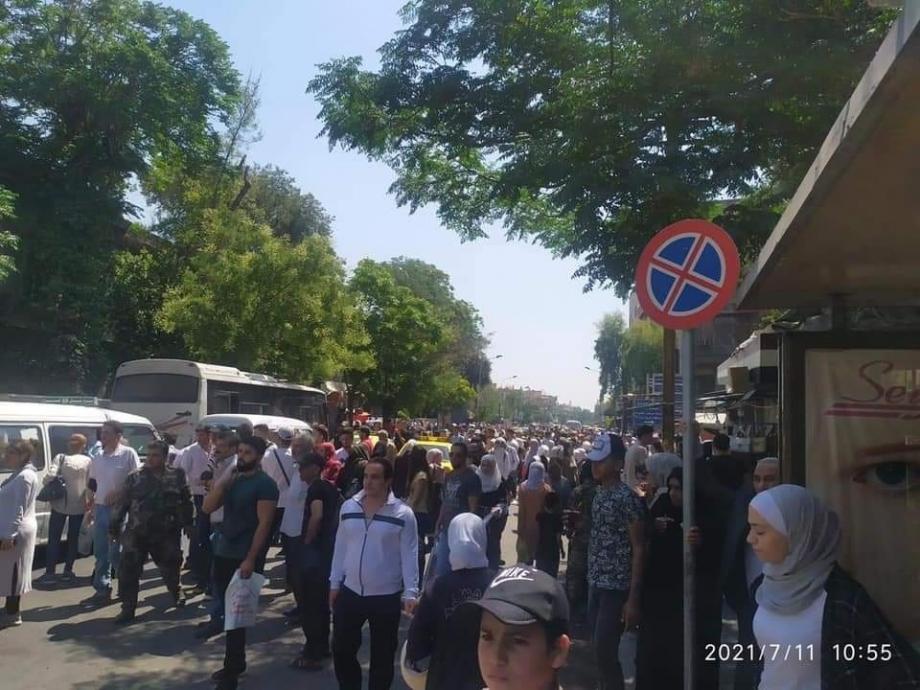 أزمة مواصلات في دمشق