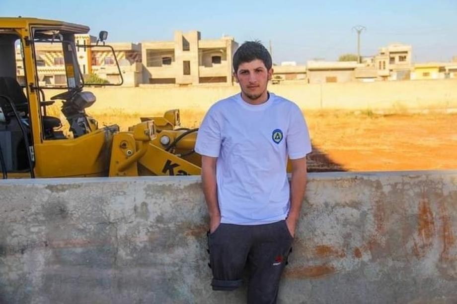 المتطوع في الدفاع المدني مرهف سلات - إدلب