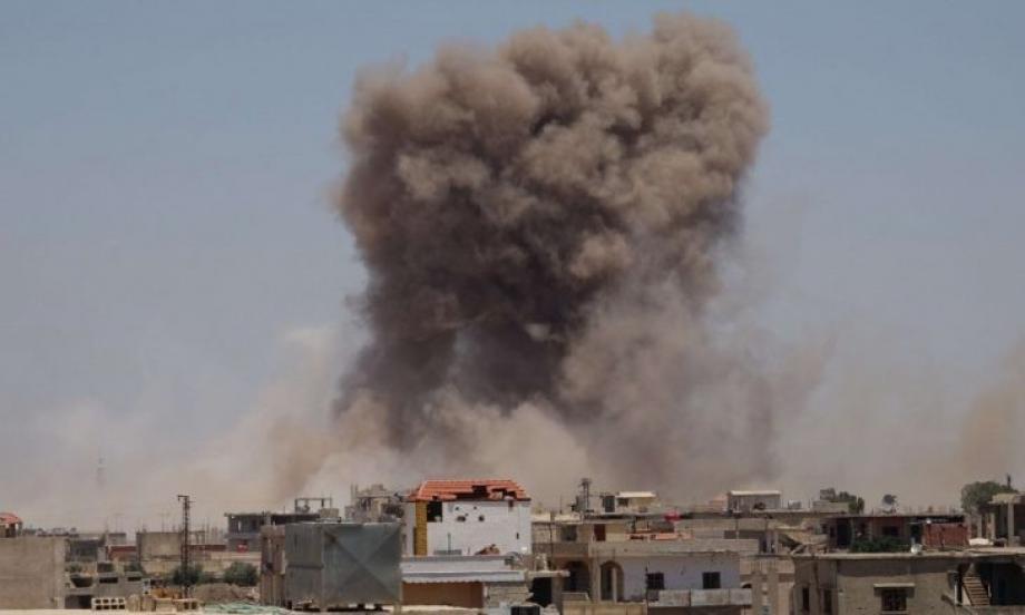 قصف على درعا