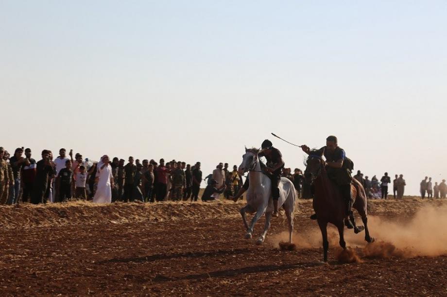 مهرجان الخيول العربية الأصيلة بريف الباب شرق حلب 23 7 2021 عدسة محمود الوعر - آرام
