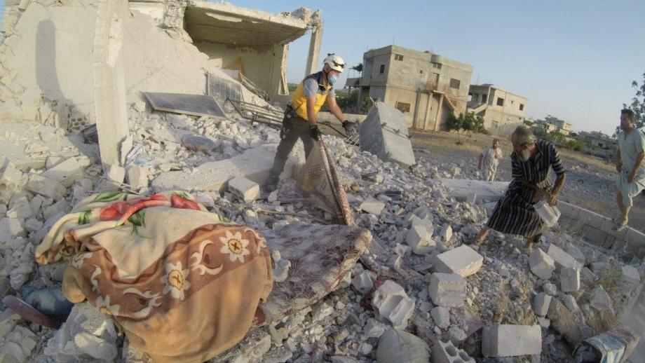 آثار الدمار في جبل الزاوية جنوب إدلب 3 7 2021 - الدفاع المدني