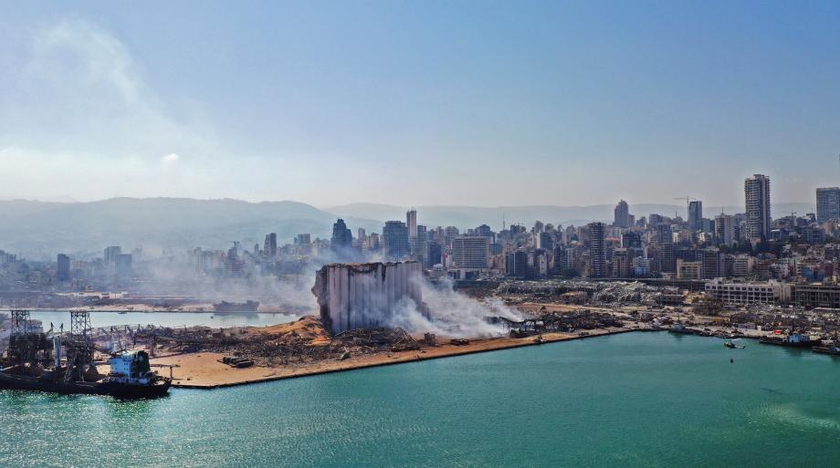 انفجار مرفأ بيروت 4 / 8 / 2020