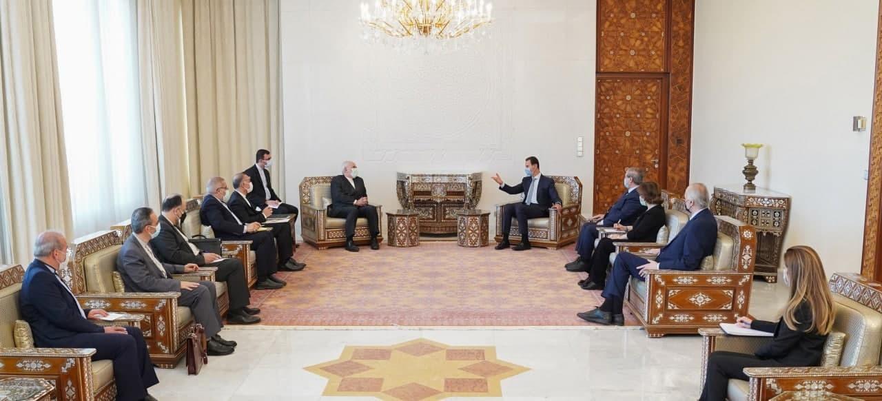بشار الأسد وجواد ظريف.4jpg.jpg